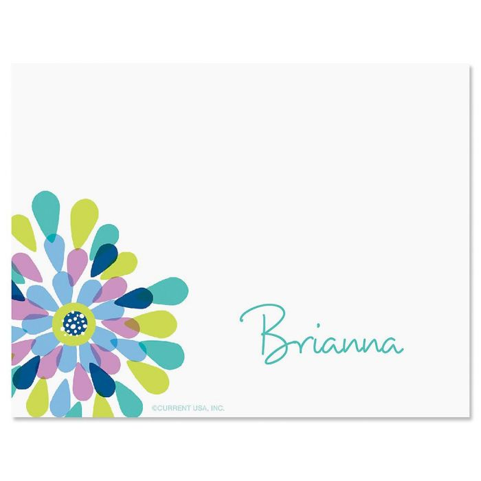 Fresh Blooms Correspondence Card