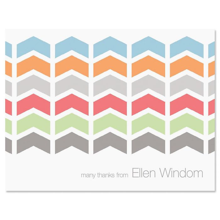 Chic Chevron Personalized Thank You Cards