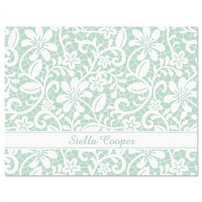 Lace Personalized Note Cards