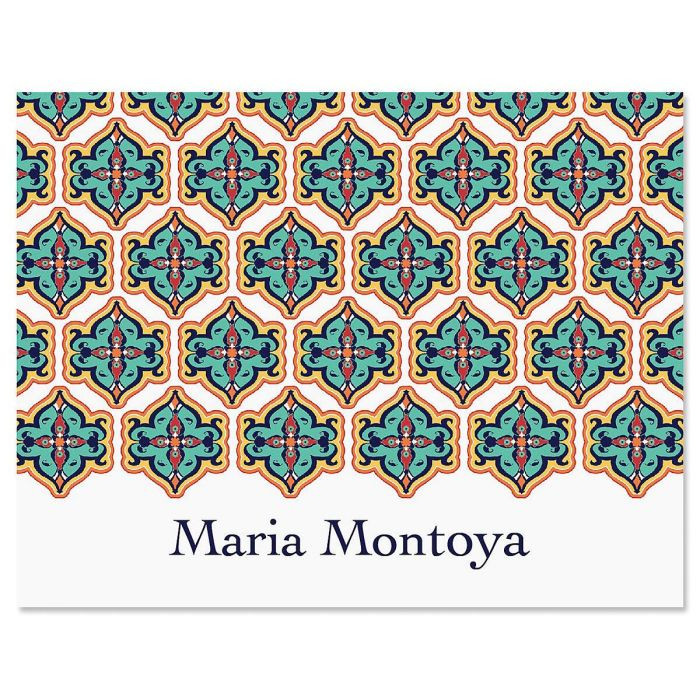 Morrocan Personalized Note Cards