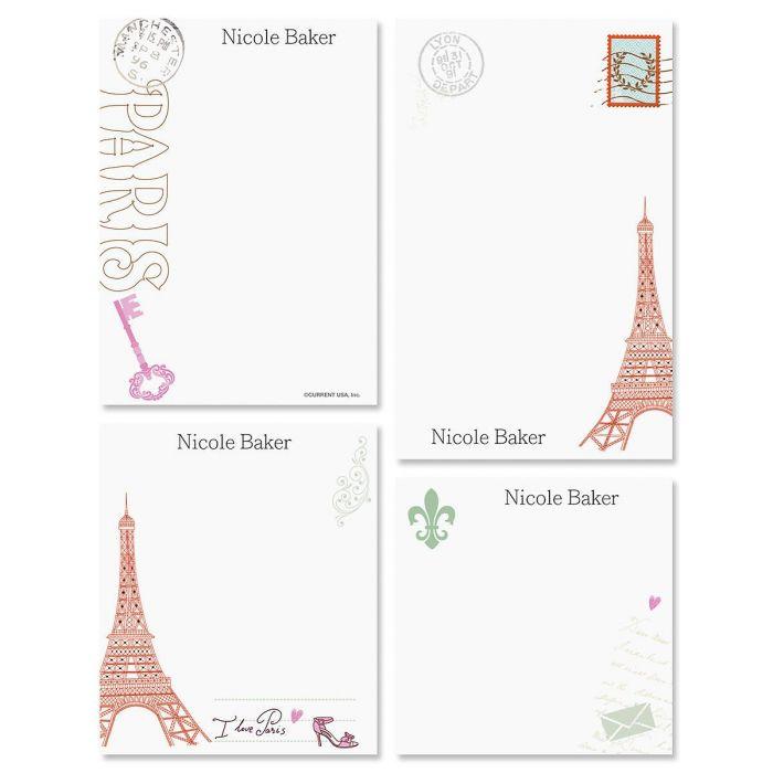 Paris Personalized Notepad Set