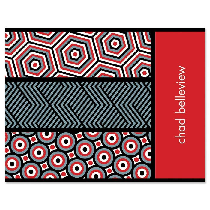 Op Art Personalized Note Cards