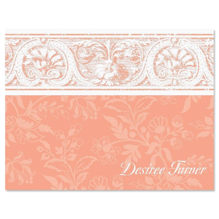 Elegant Border Personalized Note Cards