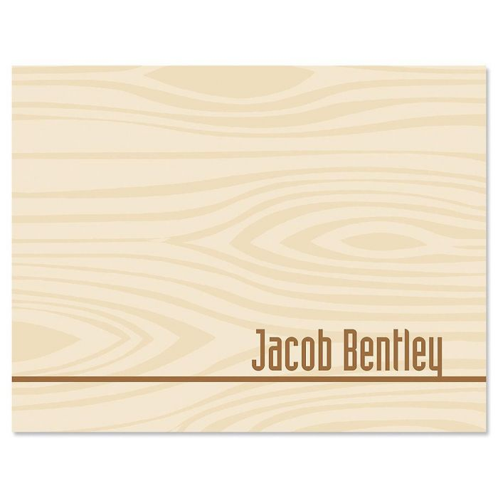 Woodgrain Personalized Note Cards