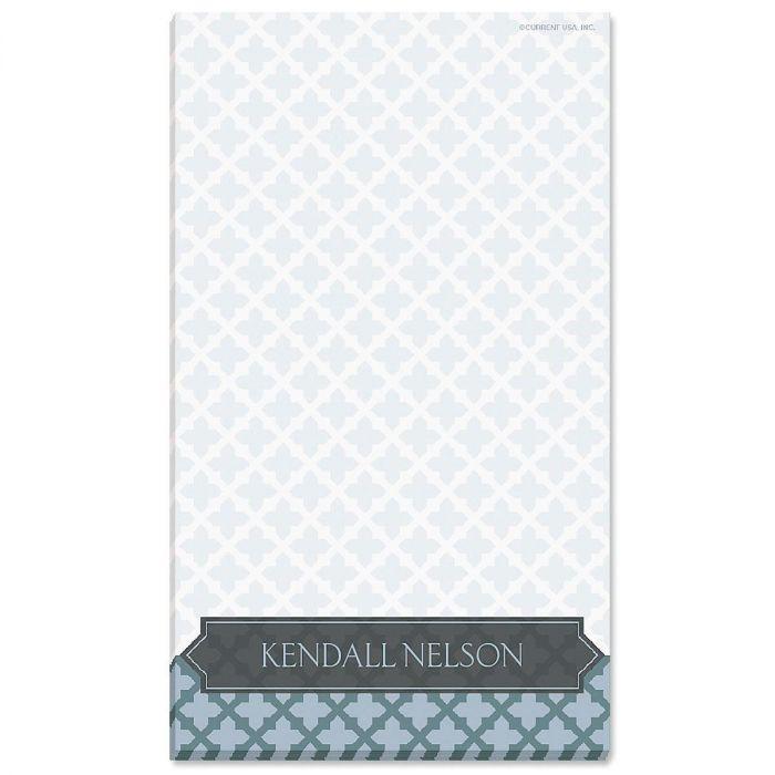 Quatrefoil Personalized Notepads