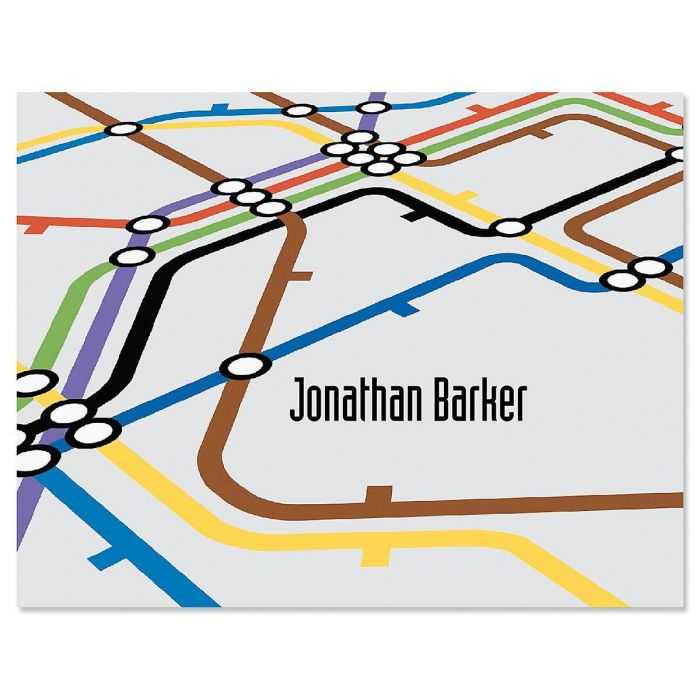 Underground Personalized Note Cards