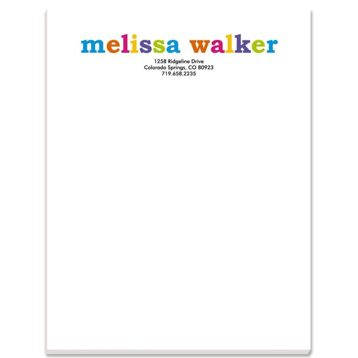 Paintbox Personalized Notepads