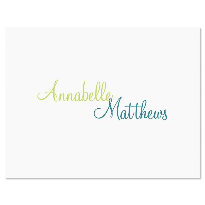 Annabelle Personalized Note Card