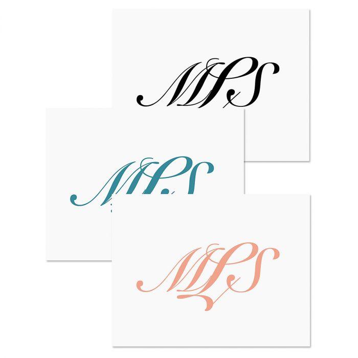 Elegant Monogram Personalized Note Cards