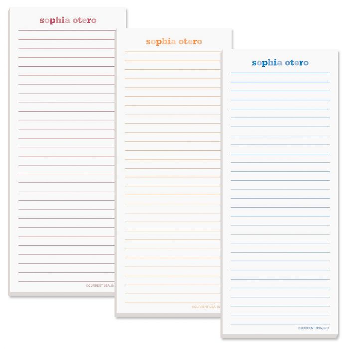 Color Wash Lined Shopping List Pads
