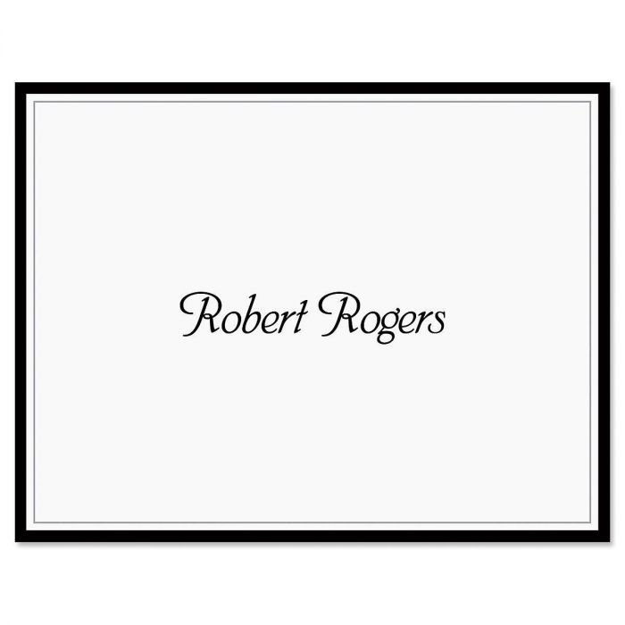 Black Rule Personalized Note Cards