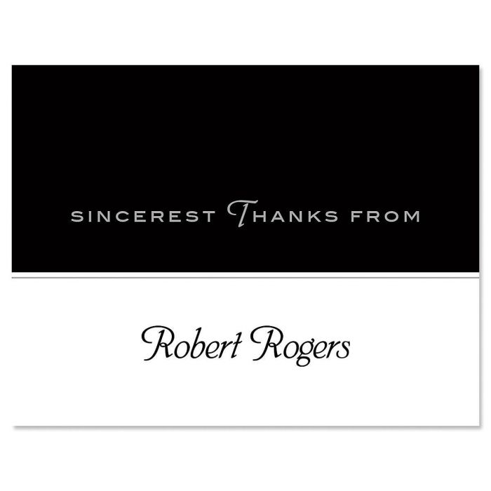 Black Rule Personalized Thank You Cards