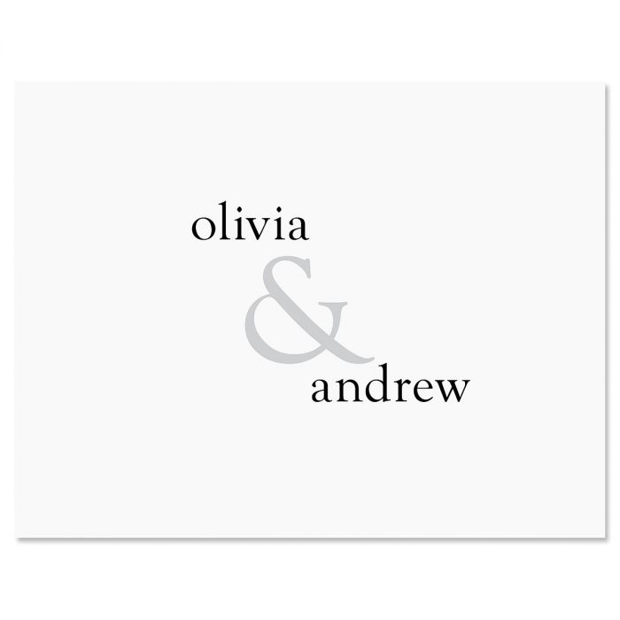 Ampersand Personalized Note Cards