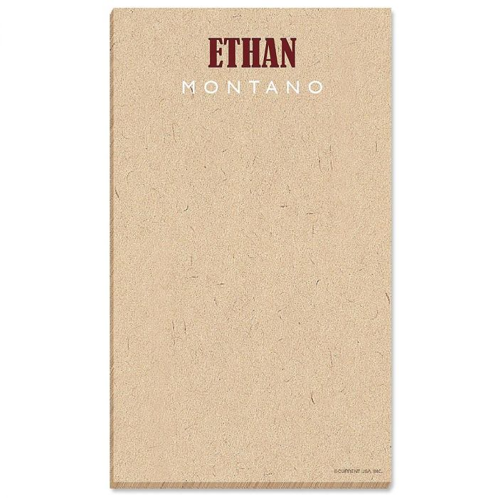 Handspun Personalized Notepads Current Catalog
