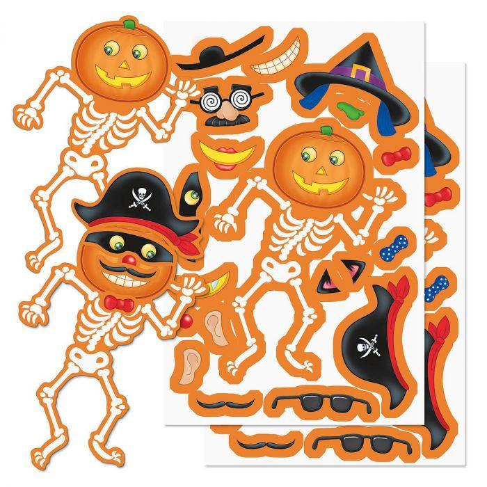 Build a Jack-o'-Lantern Stickers