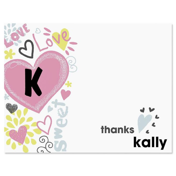 Doodle Town Personalized Thank You Cards