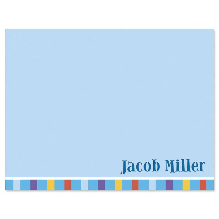 Color Bar Personalized Note Cards