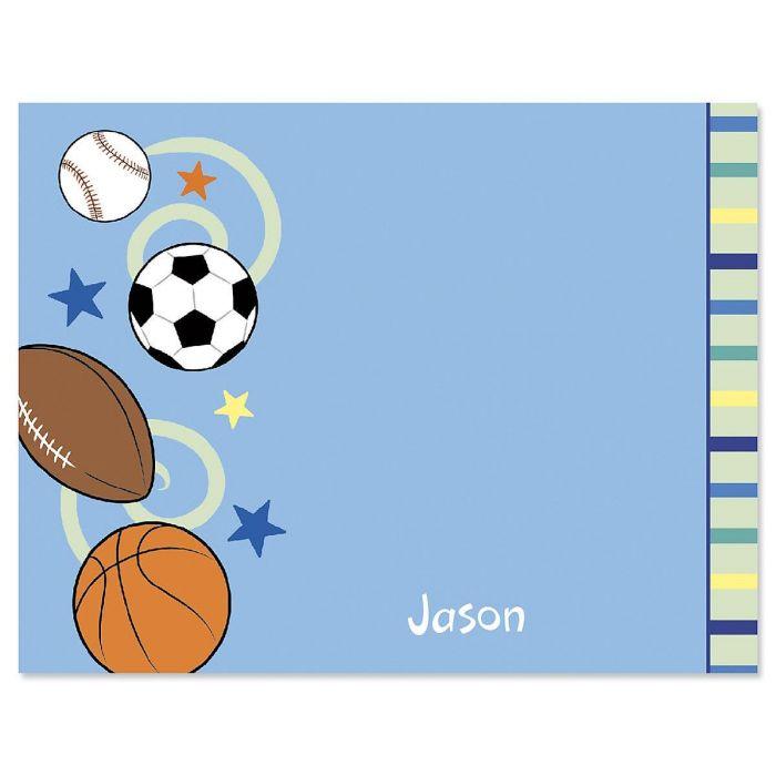 Sports Balls Correspondence Cards
