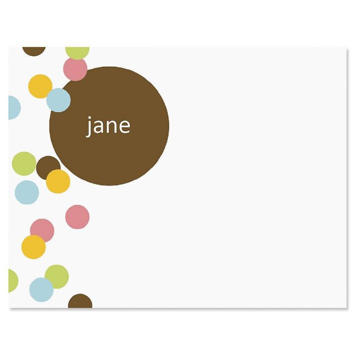 Confetti Personalized Note Cards