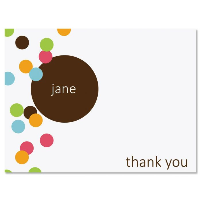 Confetti Personalized Thank You Cards