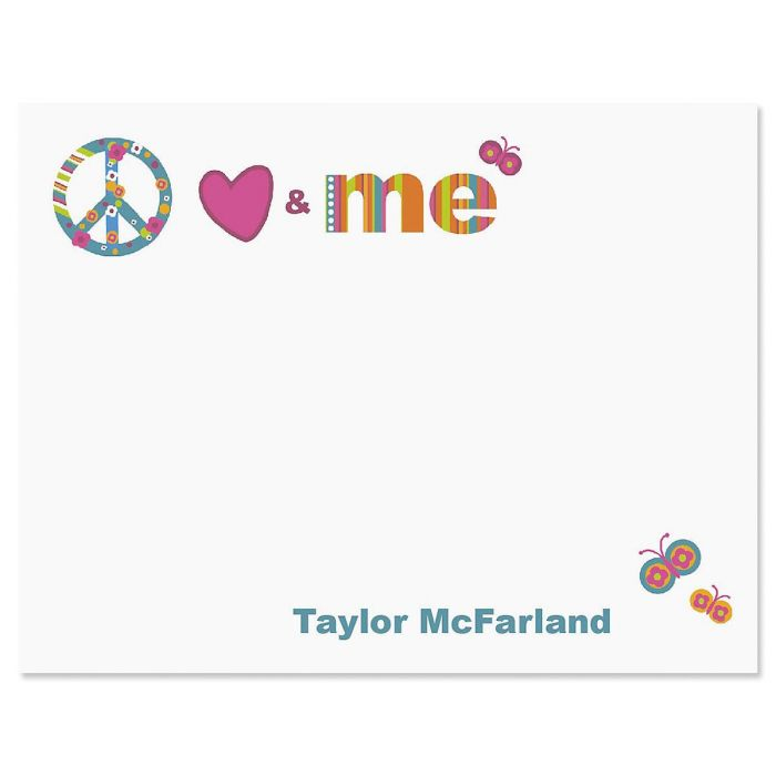 Peace, Love & Me Correspondence Cards