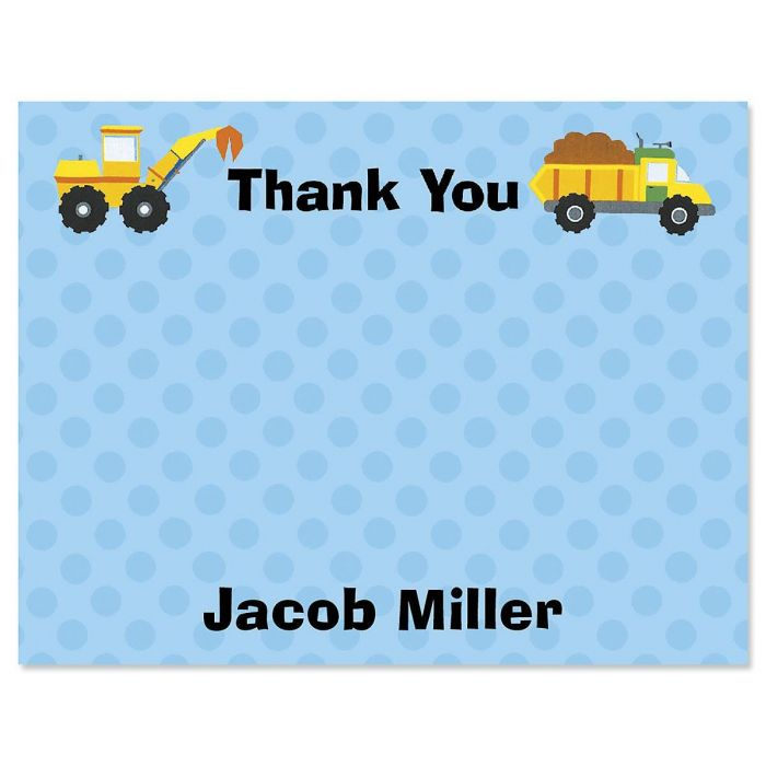 Construction Personalized Thank You Cards