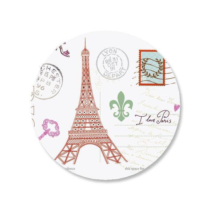 Paris Envelope Sticker Seals