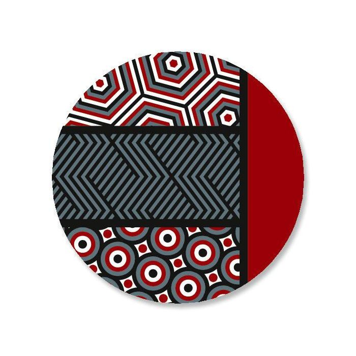 Op Art Envelope Sticker Seals