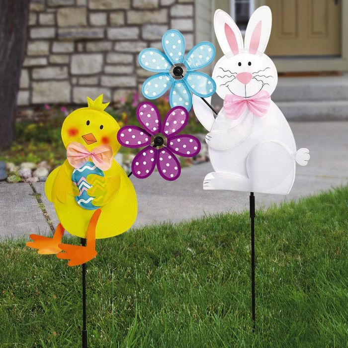 Bunny or Chick Lawn Spinner