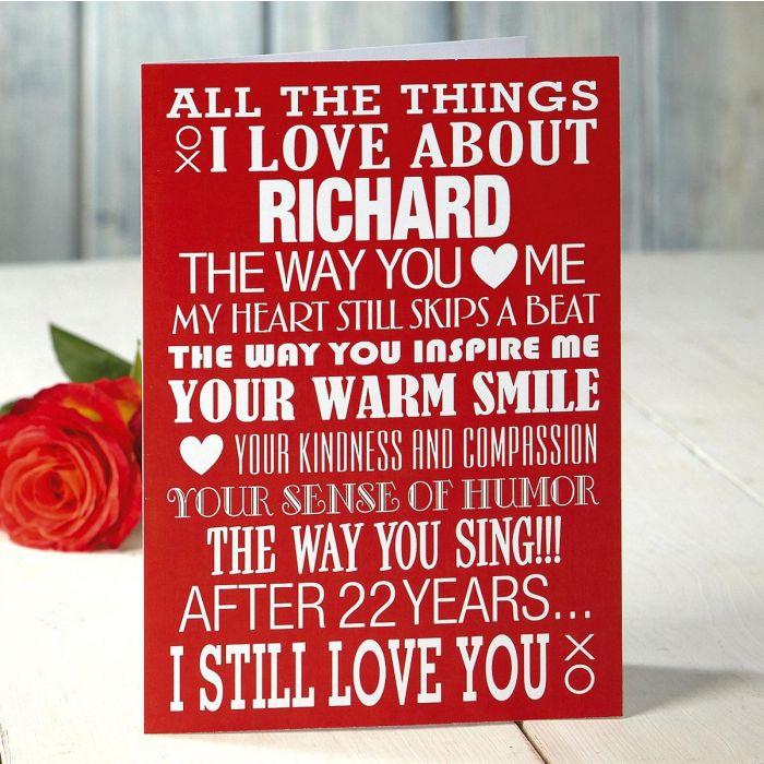 Personalized Valentine Card
