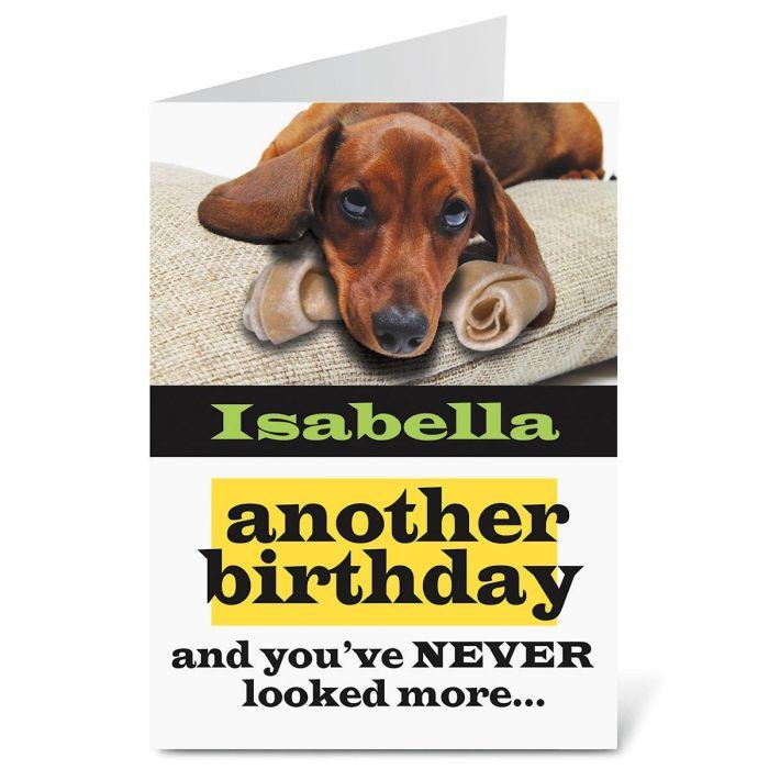 Dachshund Birthday Create-A-Card