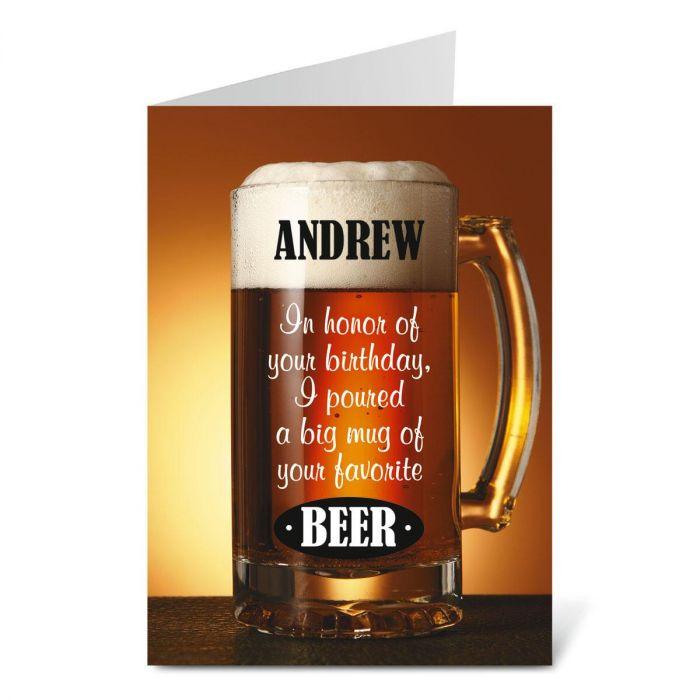 Beer Birthday Create-A-Card
