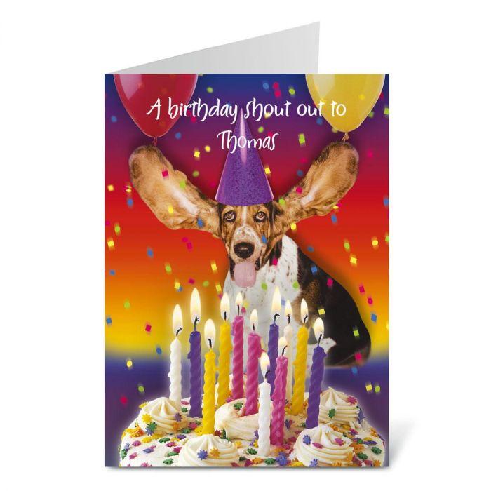 Photo Dog Birthday Create-A-Card