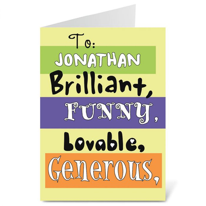 Guy Humor Birthday Create-A-Card