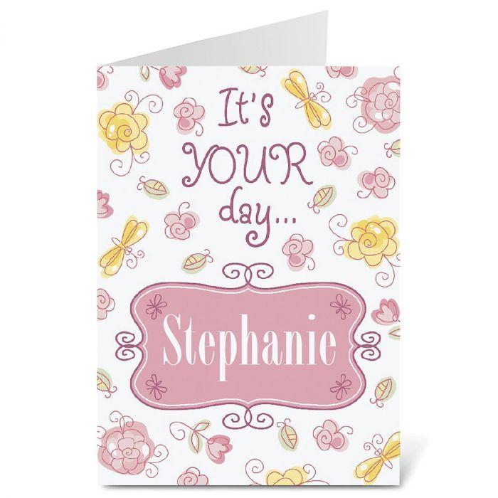 Pretty in Pink Birthday Create-A-Card