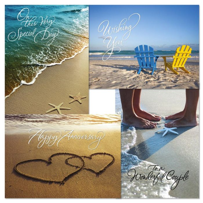 On The Beach Anniversary Cards