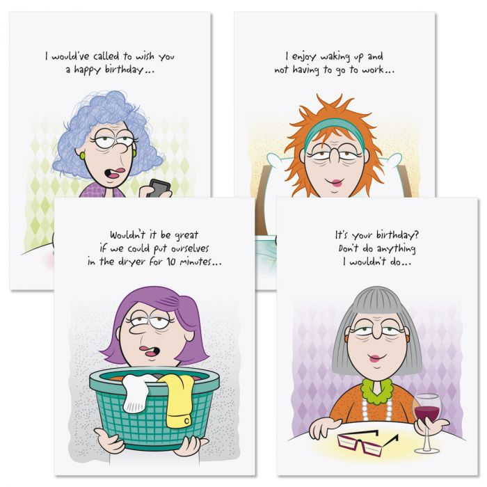 8 Girlfriends Humor Birthday Cards Current Catalog