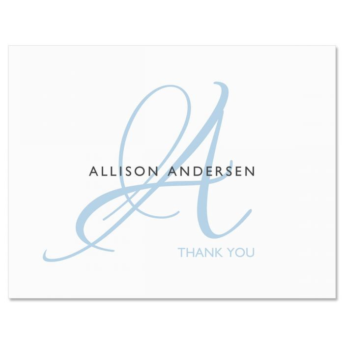 Initial Personalized Thank You Note Cards