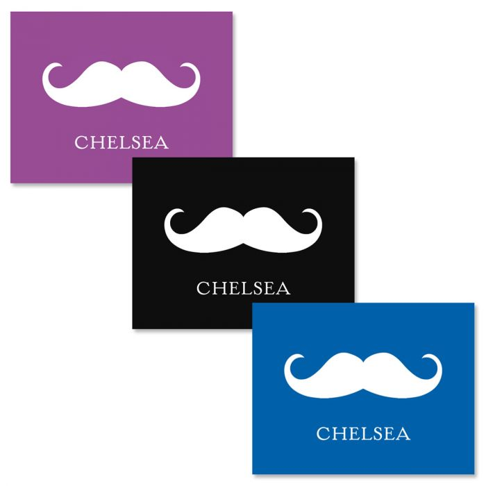 Personalized Moustache Note Cards