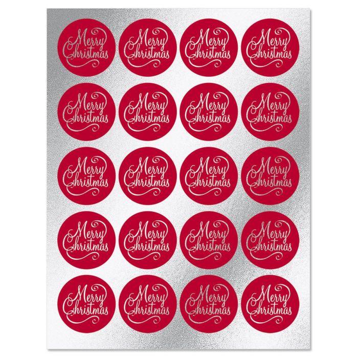 Foil Merry Christmas Envelope Sticker Seals