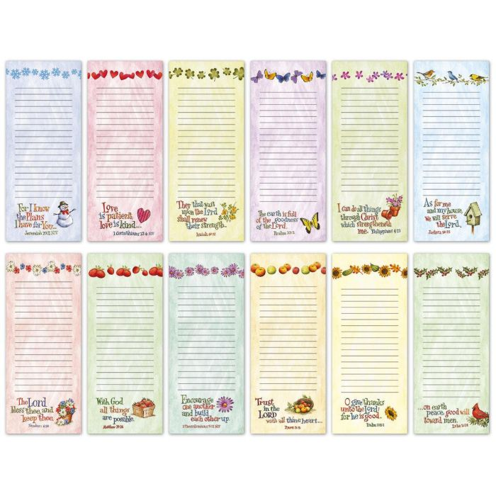 Faith Seasonal Lined Magnetic Shopping List Pads