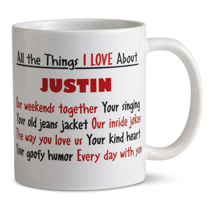 What I Love About You Personalized Mug
