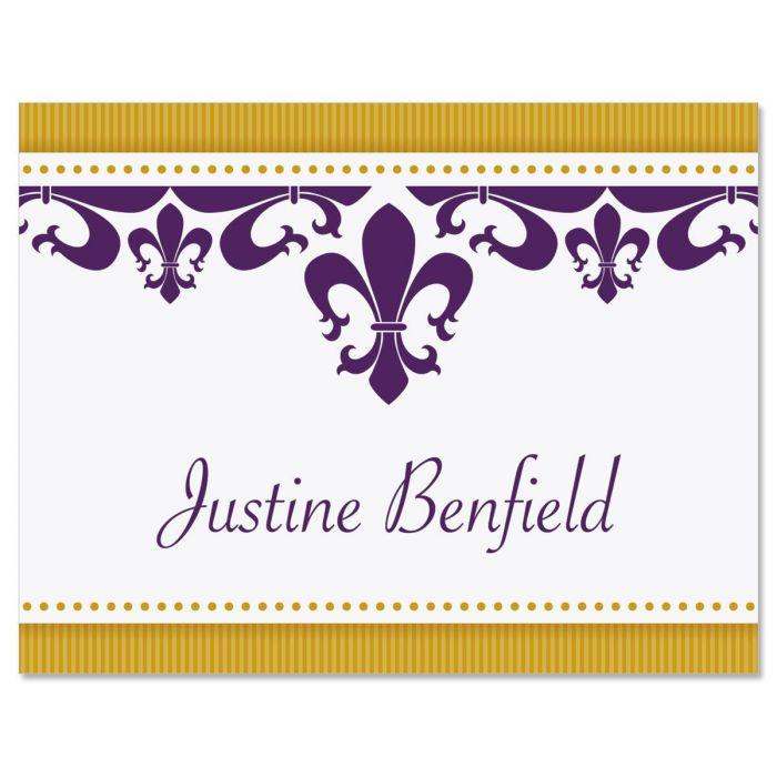 Fleur De Lis Personalized Note Cards