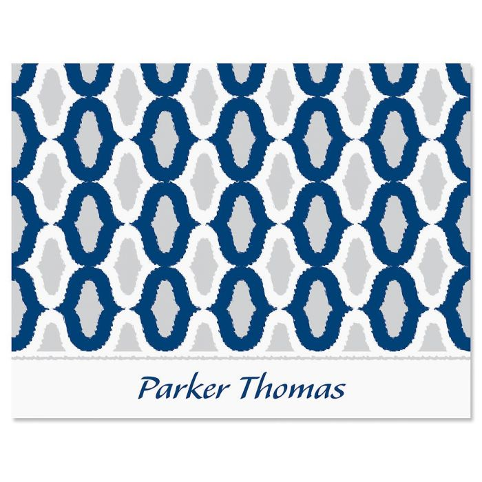 Ikat Personalized Personalized Note Cards