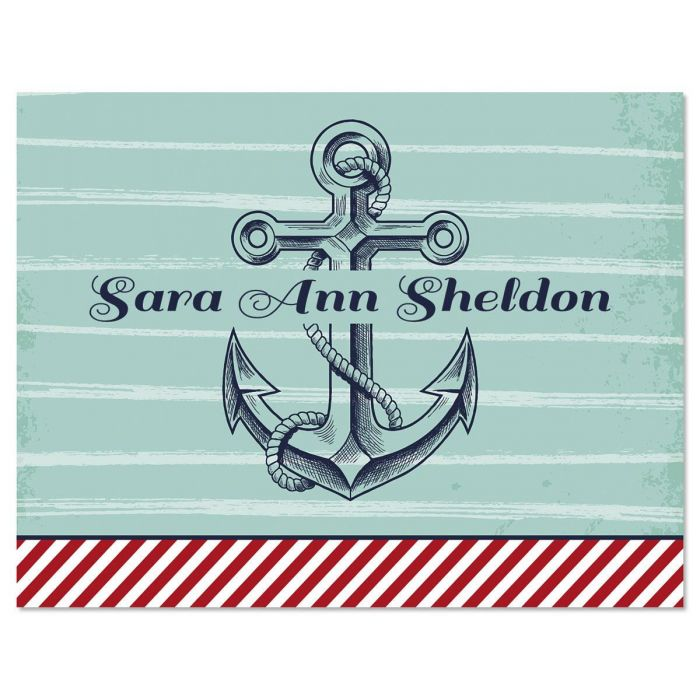 Nautical Personalized Note Cards