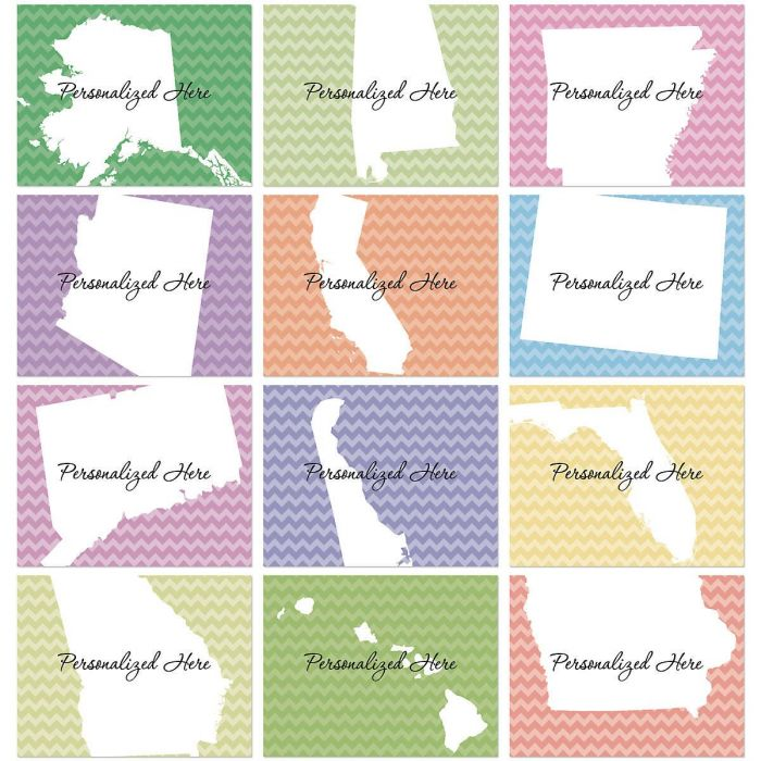 State Personalized Note Cards
