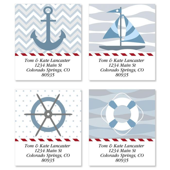 Nautical Chic Select Address Labels  (4 designs)