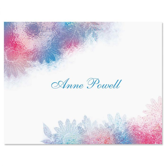 Watercolor Floral Personalized Note Cards