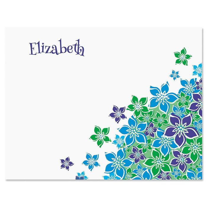 Perennial Posy Personalized Note Cards