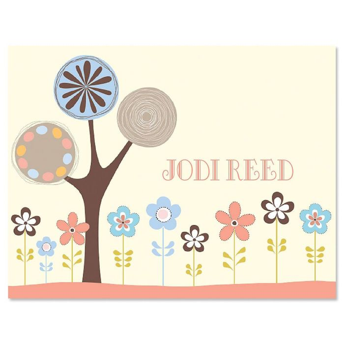 Serenity Personalized Note Cards